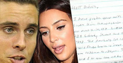Kourtney Kardashian's Baby Daddy -- Bizarre Cloak-and-Dagger Letter from Fan
