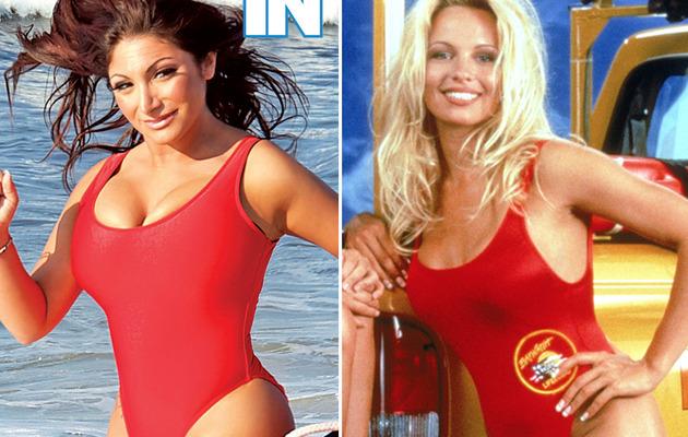 "Deena Cortese Flaunts Weight Loss In ""Baywatch"" Bathing Suit!"