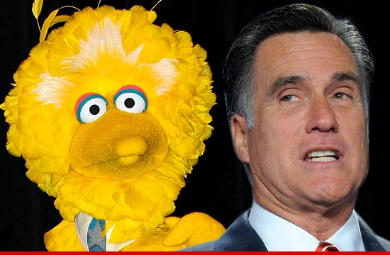 1004 big bird mitt romney 1 Big Bird to Mitt Romney    Thanks for the Shoutout ... Even Though You Want Me Dead