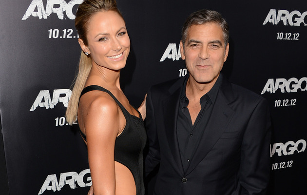 George Clooney Shows PDA with Stacy Keibler Amid Split Rumors