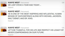 Kanye West Comes Out of Twitter Retirement to Honor Steve Jobs