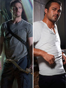 Wednesday TV's Hunky Heroes: Stephen Amell and Taylor Kinney