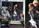 Lindsay Lohan -- HUGS IT OUT with Din