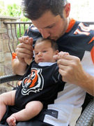 Nick Lachey Poses with Son Camden in Matching Jerseys