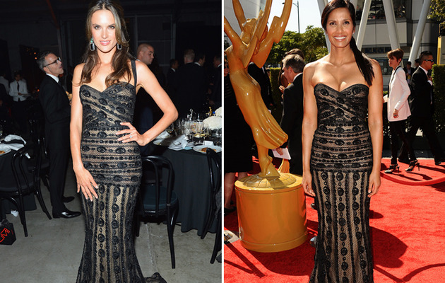 Dueling Dresses: Alessandra Ambrosio vs. Padma Lakshmi