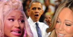 President Obama to Mariah Carey & Nicki Minaj -- STOP THE FIGHTING!!