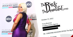 Christina Aguilera -- Plump $3 Million Offer from &#039;BIG&#039; Women Dating Site
