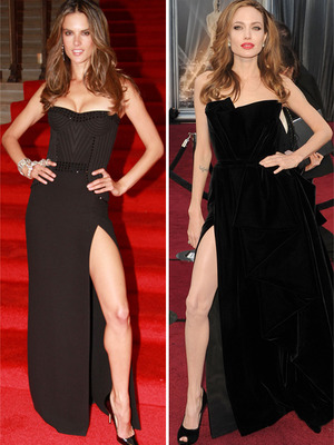 Copycat Couture: Alessandra Ambrosio vs. Angelina Jolie! 