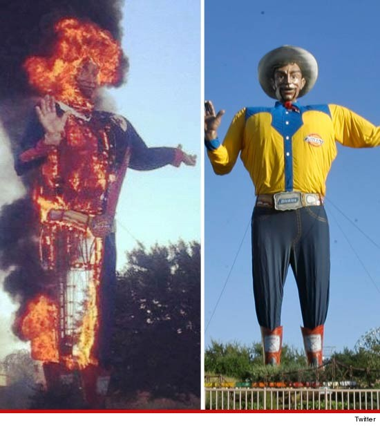 Big Tex on FIRE!