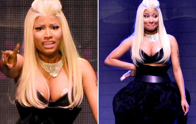 Nicki Minaj Nearly Suffers Wardrobe Malfunction On Stage!