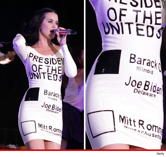 Katy Perry's Obama Ballot Dress