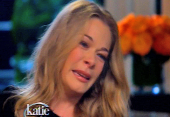 """Video: LeAnn Rimes Gets Choked Up on """"Katie"""""""