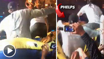 Michael Phelps -- Crowd Surfing Accident Inside Vegas Nightclub ... ON TAPE