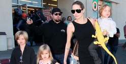 Angelia Jolie -- Not-So-Happy Halloween