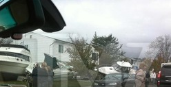 Dina Lohan&#039;s Neighborhood -- Ravaged By Hurricane Sandy