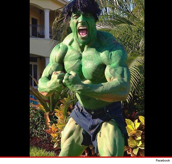 The Rock's Halloween costume: The Hulk