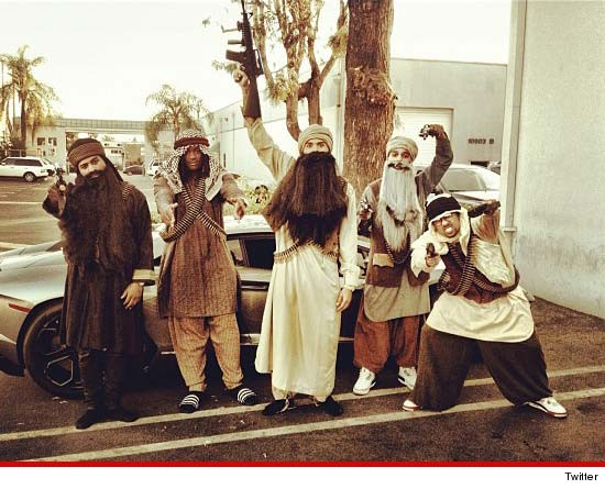 Chris Brown's Taliban Halloween Costume