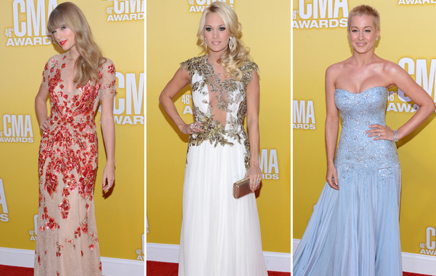 Taylor vs. Carrie vs. Kellie -- Who Stole the Spotlight on the CMA Red Carpet?