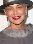 Sharon Stone Sports Scary Makeup (After Halloween)!