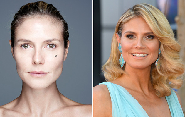 Heidi Klum Goes Makeup Free For a Good Cause!
