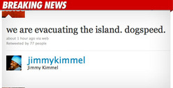 Jimmy Kimmel Evacuated In Tsunami Scare