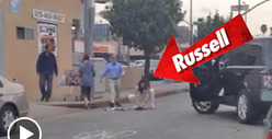 Russell Brand -- Homeless Man Trash Picker-Upper [VIDEO]