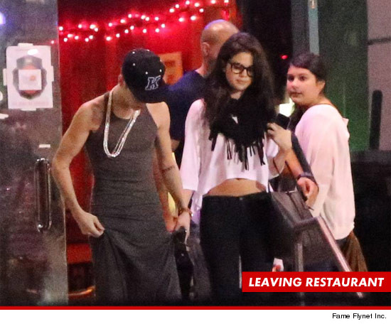 Justin Bieber and Selena Gomez got in an epic argument during dinner