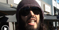 Russell Brand -- I Did NOT Run Over That Homeless Guy's Cart [Video]