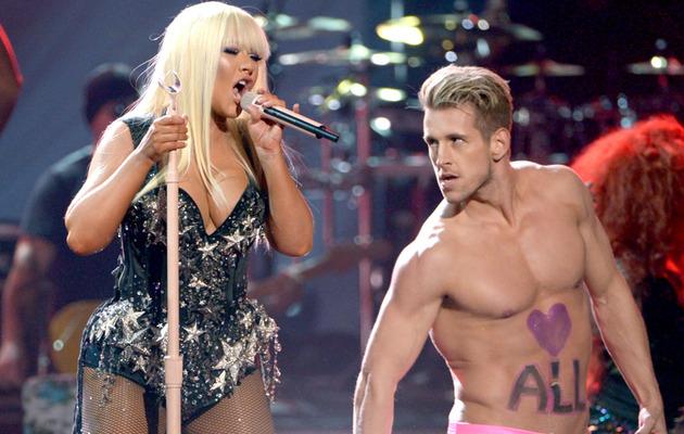 Christina Aguilera Busts Out at American Music Awards