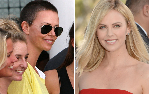 Charlize Theron Flaunts Buzzed Head In South Africa
