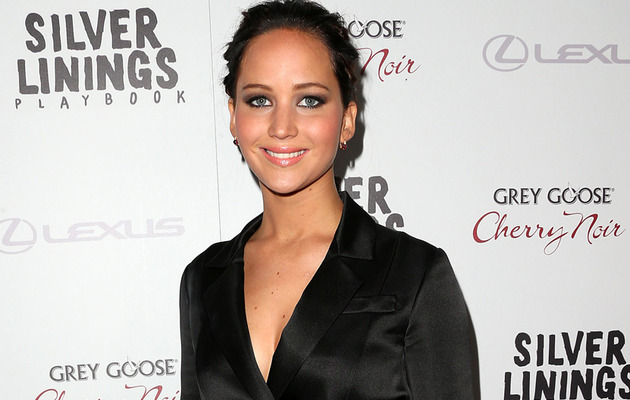 "Jennifer Lawrence Dons Sexy Coat Dress to ""Silver Linings Playbook"" Screening!"