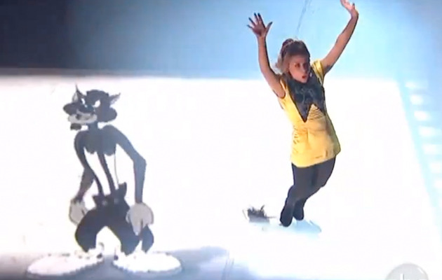 "Video: Paula Abdul Dances with MC Skat Kat on ""DWTS"""