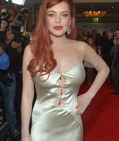 Lindsay Lohan Shows Skin In Revealing &quot;Liz &amp; Dick&quot; Premiere Dress