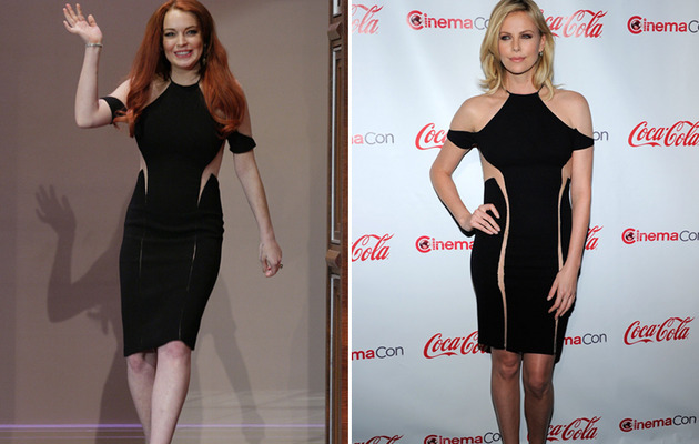 Dueling Dresses: Lindsay Lohan vs. Charlize Theron