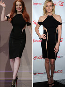 Dueling Dresses: Lindsay Lohan vs. Charlize Theron