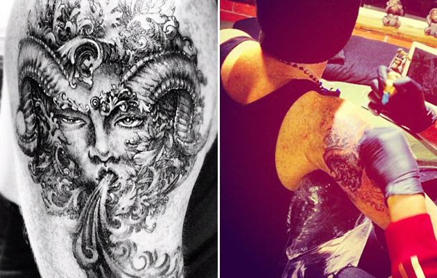 Adam Lambert Debuts Giant New Tattoo