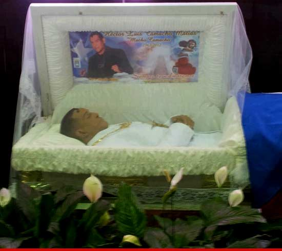 "Hector ""Macho"" Camacho 's body is currently on display at a public"