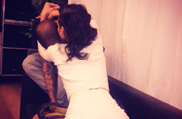 "Rihanna Straddles Chris Brown, Calls Him ""Baby"""