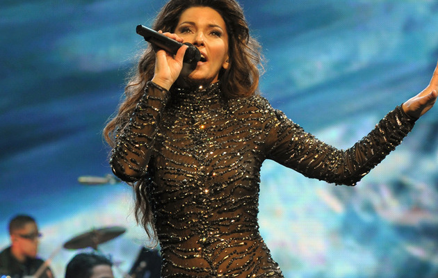 Shania Twain, 47, Stuns In Black Catsuit In Vegas!