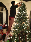 Mario Lopez Decorates Christmas Tree In His Underwear
