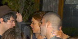 Lindsay Lohan -- Getting Hands On with Max George from The Wanted [PHOTO]