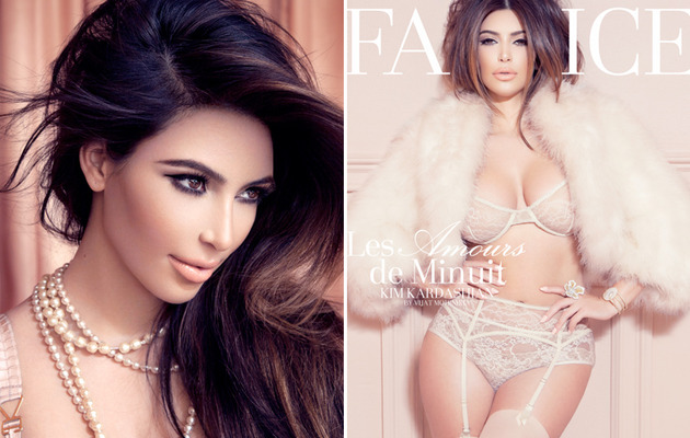 Kim Kardashian Strips Down for Sexy Lingerie Shoot