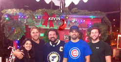Eva Longoria and Kevin Smith Rockin' Around the Xmas Tree ... Lot