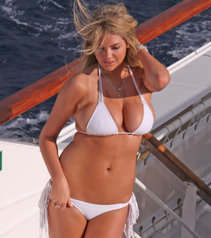 Kate Upton Strips for Antarctic Photo Shoot