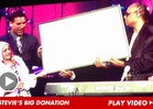 Stevie Wonder to Charlie Sheen -- I See Your $75K Cancer Donation ... & Raise You $25K!