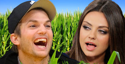 Ashton Kutcher's Corny Christmas with Mila Kunis