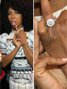 Brandy Flashes Giant Engagement Ring, Bikini Bod