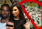 Kim Kardashian &amp; Kanye West -- REJECT Brangelina-Sized Payday for Baby Pics