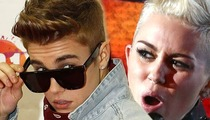 Miley Cyrus to Justin Bieber Fans -- DON'T CUT YOURSELVES ... It's Not Funny