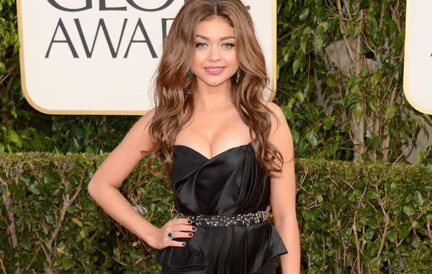 Sarah Hyland Busts Out at the Golden Globe Awards